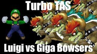 Turbo TAS: Luigi vs 5 Giga Bowsers