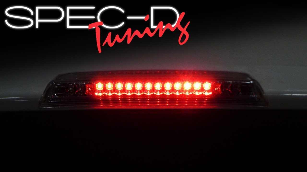 SPECDTUNING INSTALLATION VIDEO 2004 - 2012 NISSAN TITAN LED 3RD BRAKE LIGHT - YouTube & SPECDTUNING INSTALLATION VIDEO: 2004 - 2012 NISSAN TITAN LED 3RD ...
