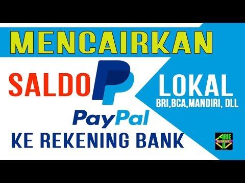 Cara menghubungkan paypal ke Bank lokal.