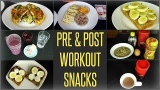 Pre & Post Workout Snacks For Better Performance & Results