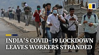 Coronavirus: Chaos across India as thousands of stranded migrant workers flee cities under lockdown