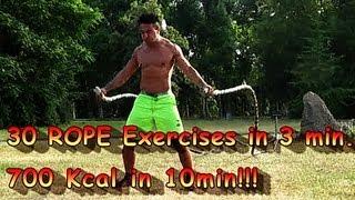 Top 30 Battle Ropes Exercises in 3 min.I from MASTER OF THE ROPES I Heavy Battling I Farid Berlin