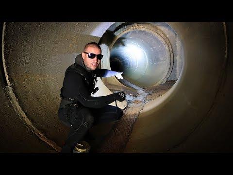 Exploring Underground Tunnel System Below City!! (Creepy)