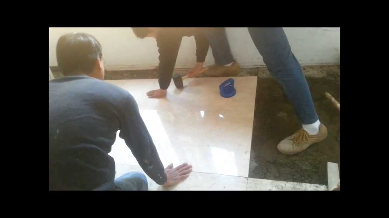 Marble Tile Floor Installation Process  YouTube