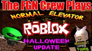 The FGN Crew Plays: ROBLOX - The Normal Elevator Halloween Update (PC)