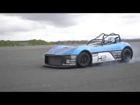 A test lap with the Forze VI, the first hydrogen racecar in the world.