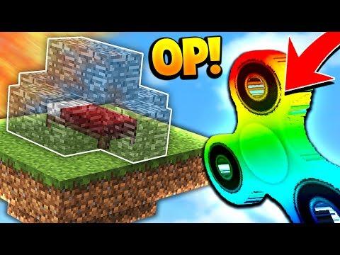 OP MINECRAFT RAINBOW FIDGET SPINNER! (Minecraft BED WARS Challenge)
