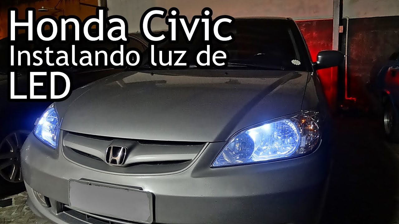 honda civic colocando lanterna de led installing led. Black Bedroom Furniture Sets. Home Design Ideas