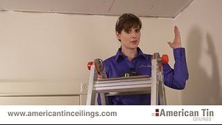 Installing Drywall & Popcorn Tin Ceiling Tiles (1/3)