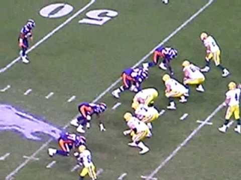 Brett Favre of the Green Bay Packers vs. Denver Broncos, Mile High Stadium
