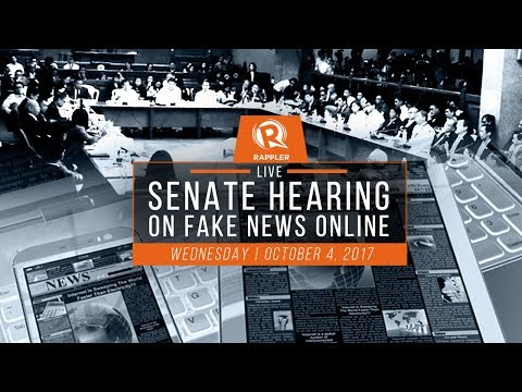 LIVE: Senate hearing on fake news online