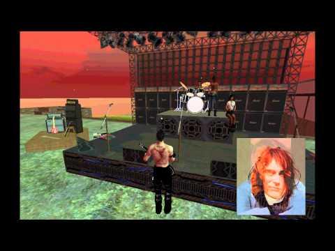 Um tributo Second Life a Kurt Cobain - Come as you are