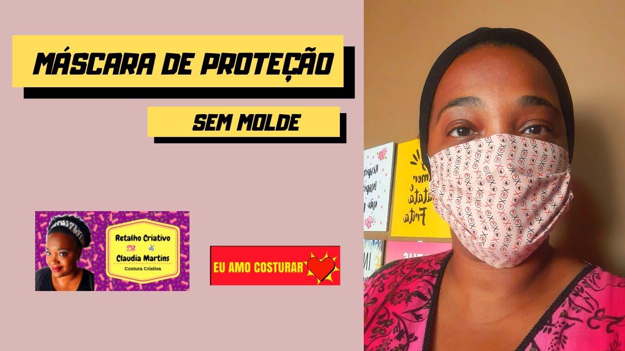 Máscara de Proteção Sem Molde I Passo a Passo   Retalho Criativo ✂