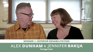 Meet Alex Dunham & Jennifer Bakija, Interior Rehab Winners | 15th Annual Driehaus Bungalow Awards