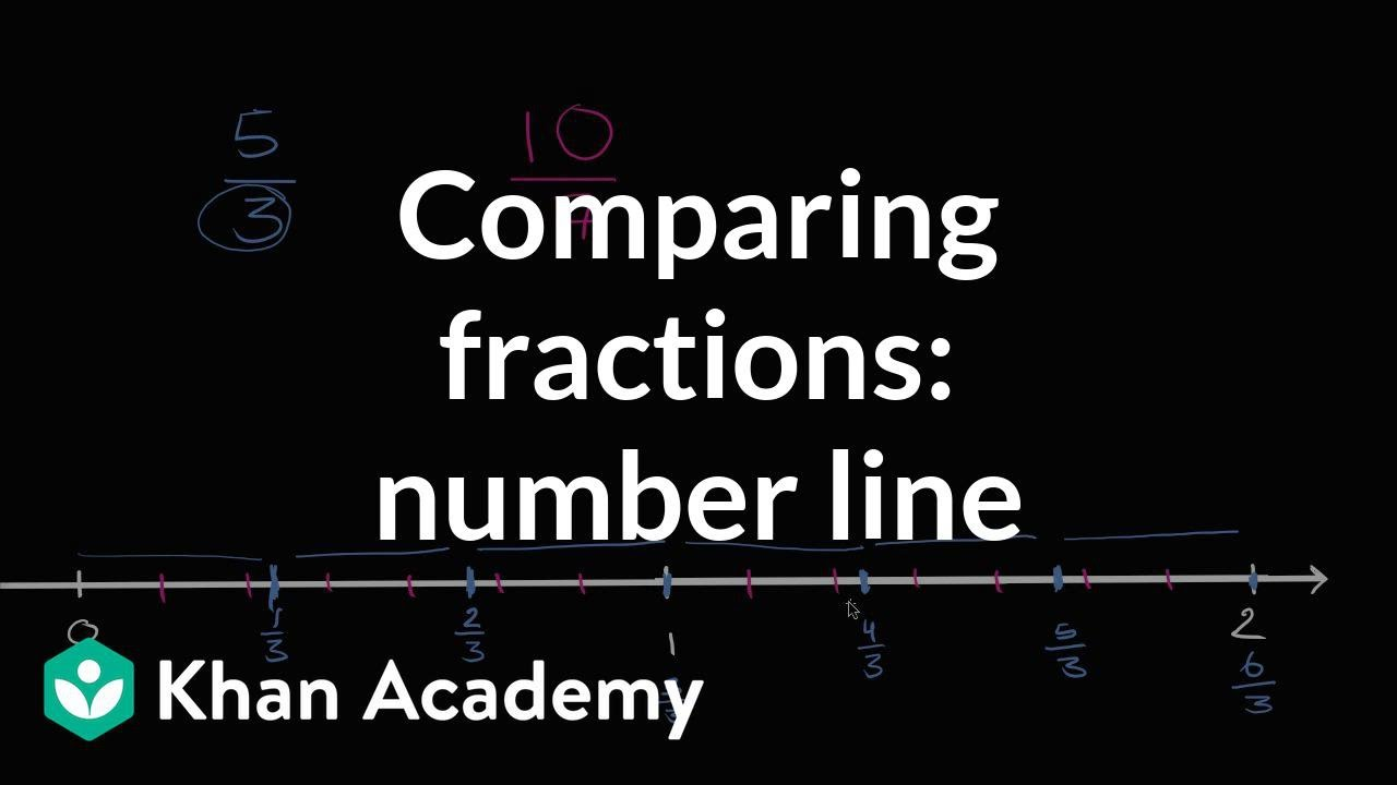 medium resolution of Comparing fractions: number line (video)   Khan Academy