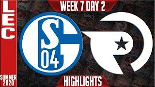 S04 vs OG Highlights | LEC Summer 2020 W7D2 | Schalke 04 vs Origen