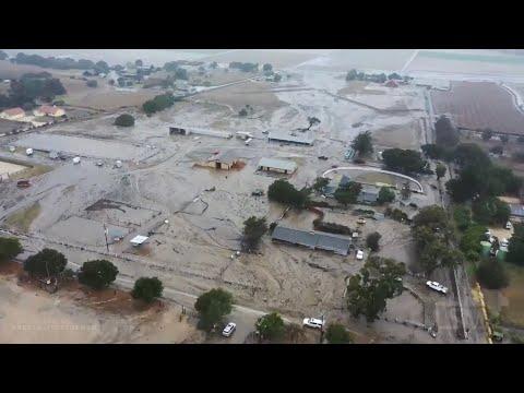 01-27-2021 Chualar, CA- Near Salinas - Mudflows impacting homes Drone