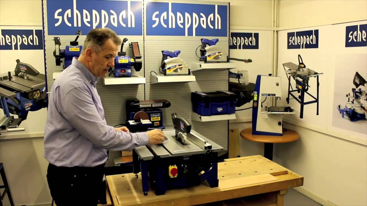 scheppach hs80 210mm table saw screwfix youtube. Black Bedroom Furniture Sets. Home Design Ideas