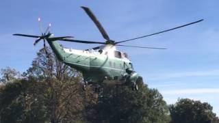 marine one taking off from the white house usa sikorsky vh 3d sea king