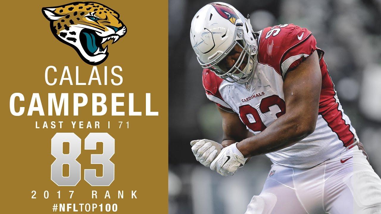 83 Calais Campbell DL Jaguars Top 100 Players of 2017