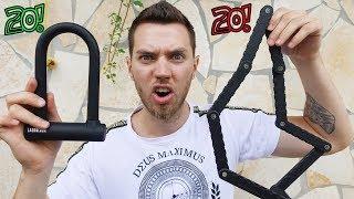 Kann ich mit dem Bolzenschneider ein 20€ Fahrrad Schloss knacken? - Experiment