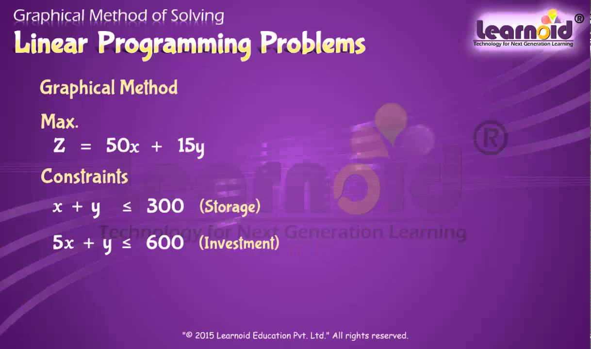 class 12 graphical method of solving linear programming problems class 12 graphical method of solving linear programming problems