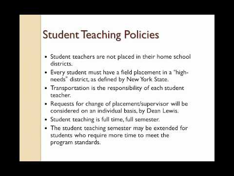 The Student Teaching Experience