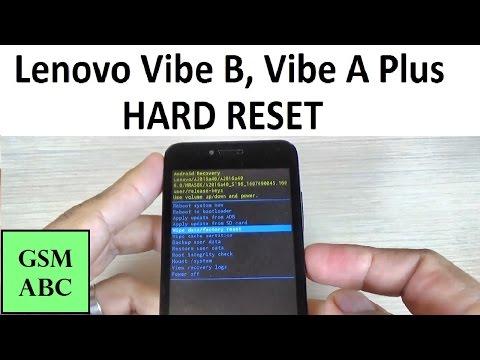 HARD RESET Lenovo Vibe B, Vibe A Plus