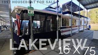 1997 Lakeview 16 x 75 Houseboat for Sale Houseboats Buy Terry.