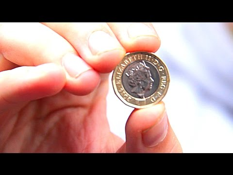 New One Pound Coin glued to floor prank
