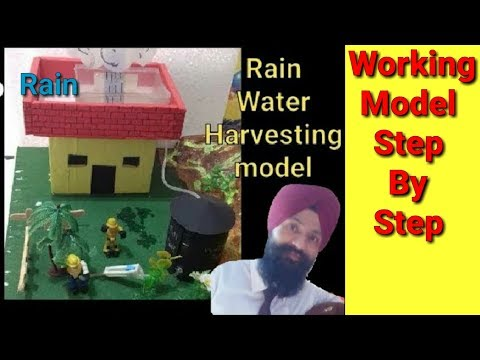 ✔How to make working model  of rain water Harvesting step by | science model project for class 10th thumbnail
