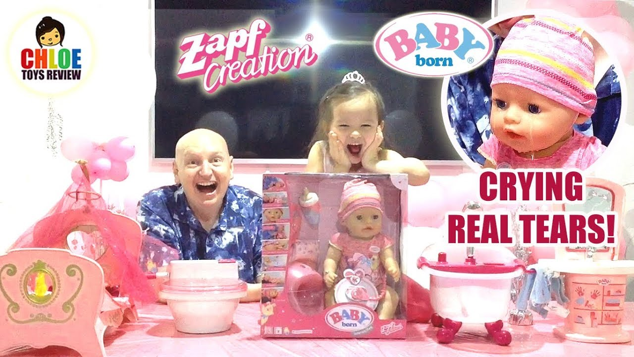 731cc39cabfe Baby Born Interactive Doll and Musical Bathtub Review! ❤ Zapft ...