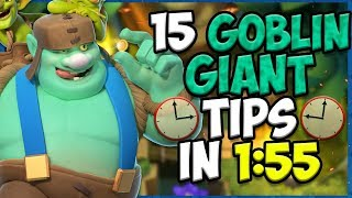 15 QUICK Tips About: Goblin Giant🤢 - Clash Royale