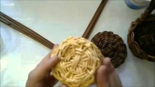 Плетение корзинки из газетных трубочек. Уроки 4 и 5 онлайн-школы газетоплетения для новичков.