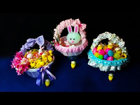 Beautiful Easter Hunt Baskets .. Very Easy to Make .. Easy Diy