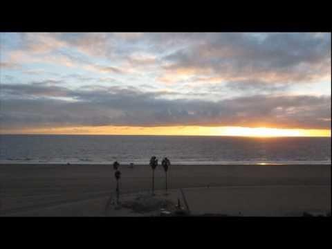 Beautiful Santa Monica Beach Sunset Panorama