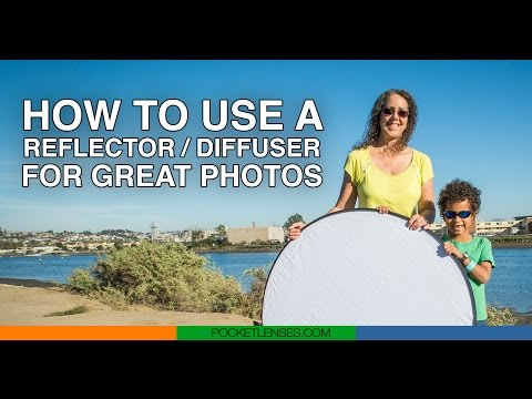 How to use a photo reflector / diffuser