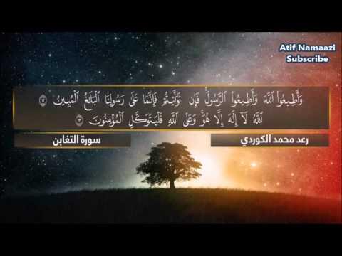Surah At Taghabun: Qari Raad Muhammad Al-Kurdi (English/Arabic Subs)