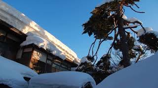 Traditional Japanese House & Snow in winter @ Akita, Japan