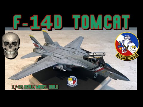 Building the Tamiya 1/48 Scale F-14D Tomcat Fighter Jet
