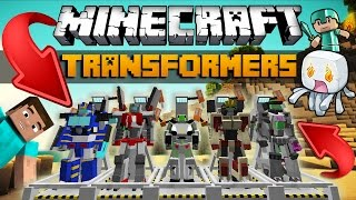 TRANSFORMACJA W MINECRAFT?! - TRANSFORMERS MOD!