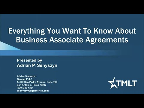 What every physician should know about Business Associate Agreements
