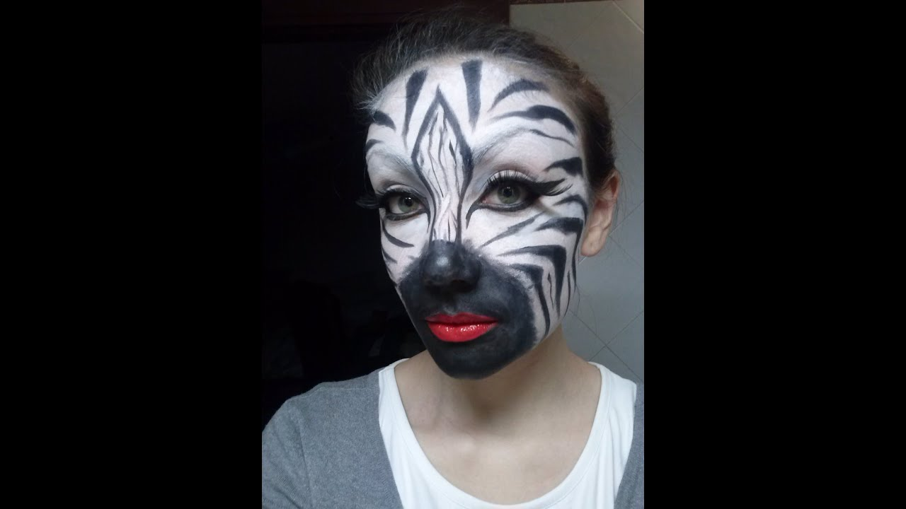 spesso makeup tutorial/face painting ZEBRA! - YouTube VX21