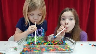Candy challenge games!  Gummy bears, M&M candy, more!  | How To Candy | Babyteeth4
