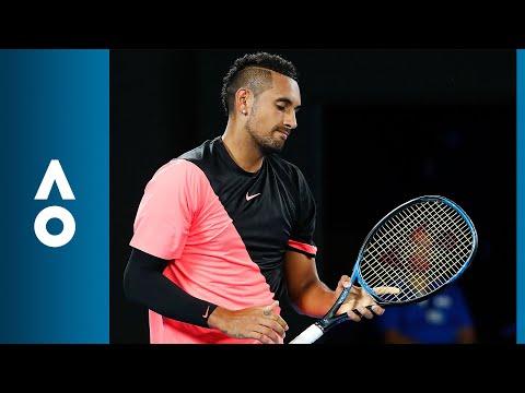 Kyrgios takes the 'no look' approach | Australian Open 2018