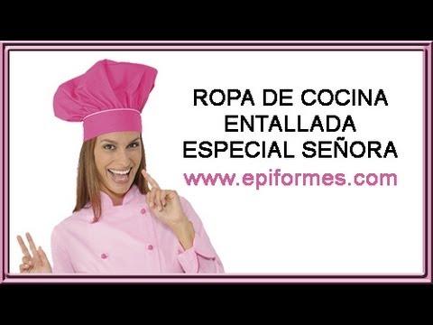 Ropa de cocina entallada especial para se ora youtube - Ropa de cocina ...