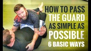 Jiu-Jitsu Guard Passes  6 Basic but Effective Guard Passes for Gi or No Gi