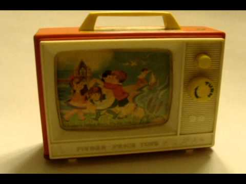 Vintage 1966 Fisher Price Two Tune TV