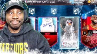 SNOW-MONSTER PACK OPENING & UNLOCKED PRESENTS! NBA Live Mobile 16 Gameplay Ep. 51