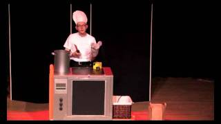 Goochelaar Jan: trouble with a mouse and an oven. Original illusion design and concept.